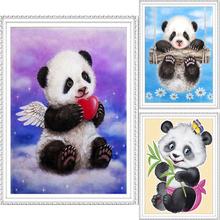 5D DIY nimals mother love mosaic crafts diy diamond painting cross stitch panda resin rhinestones round diamond embroidery