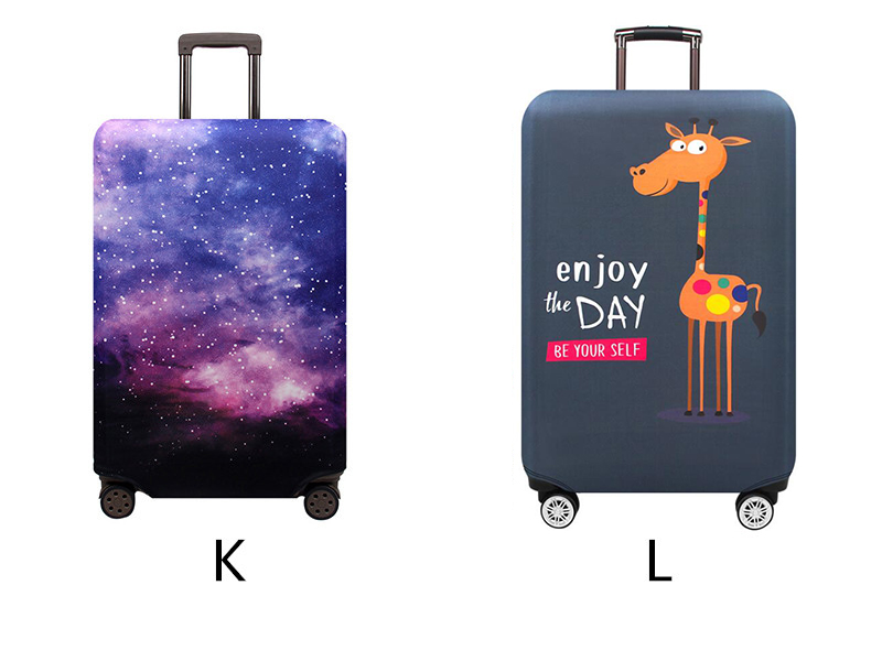 Thicker Travel Luggage Protective Cover Suitcase Case Travel Accessories Elastic Luggage Dust Cover Apply to 18''-32'' Suitcase 11