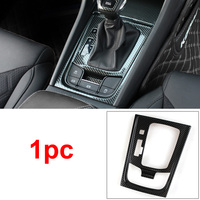 1pc Carbon fiber pattern Stainless steel for SKODA KODIAQ gear panel Decoration frame