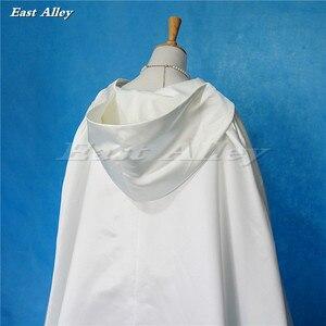 Image 4 - Ivory Cloak Hooded Satin Wedding Cloak Cape Costume Renaissance Medieval Clothing Fairy Adult