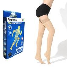 YISHENG Tıbbi Sıkıştırma Uyluk Yüksek Çorap Varisli Damarlar Kadın Çorap Seksi Dantel Bandı Yaz 15 20mmHg