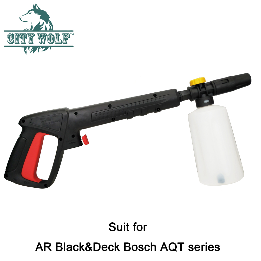 Water-Gun Snow-Foam-Lance High-Pressure-Spray Clean/black Interskol/bosche AR with  title=