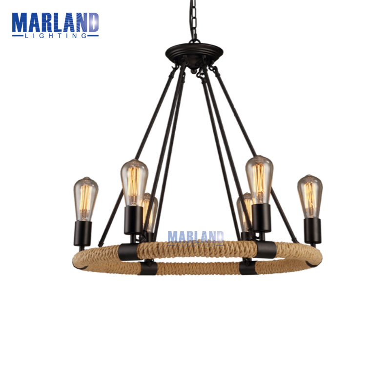 E26/E27 American Country Retro Hemp Rope Pendant Light Lamps Vintage Edison Cord LED Hanging Lights For Cafe Restaurant Bedroom american country vintage loft iron hemp rope pendant light dining room edison bulb pendant lamps restaurant cafe bar drop lights