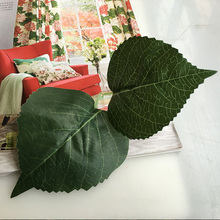 Green Artificial Leaf Decorative Plastic Flowers Branch Hydrangea Leaves Diy Home New Year Wedding Deocation