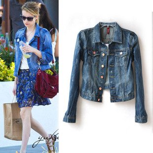 Aliexpress.com : Buy SALE Women's Denim Jacket Snapshot Short ...