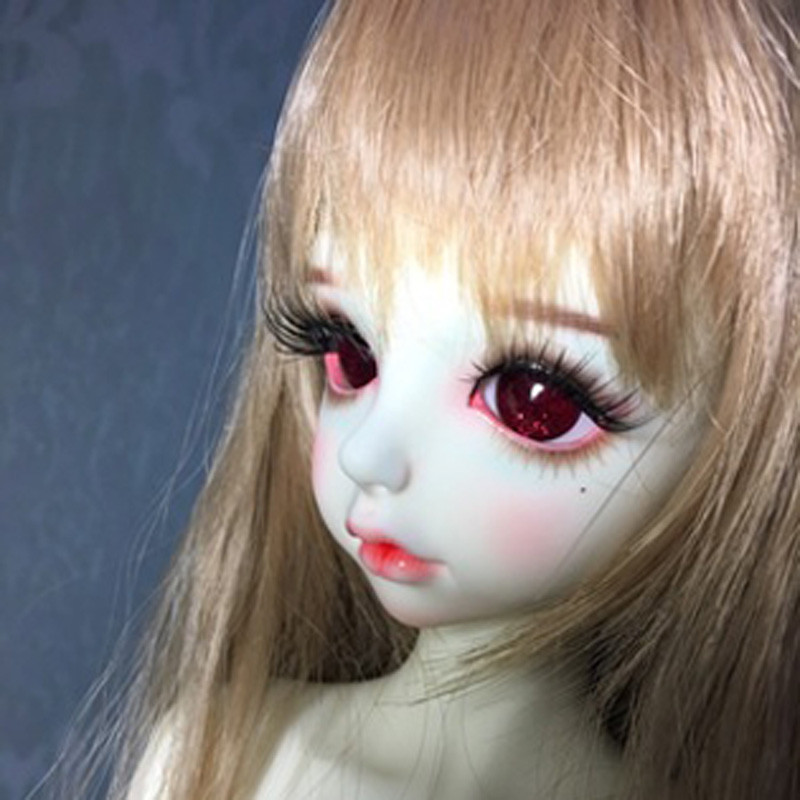 Colorful doll eyes for 1/3 1/4 1/6 bjd Dolls toys sd granulated light color eyeball 8mm 16mm 18mm 20mm Acrylic EYEs for dolls