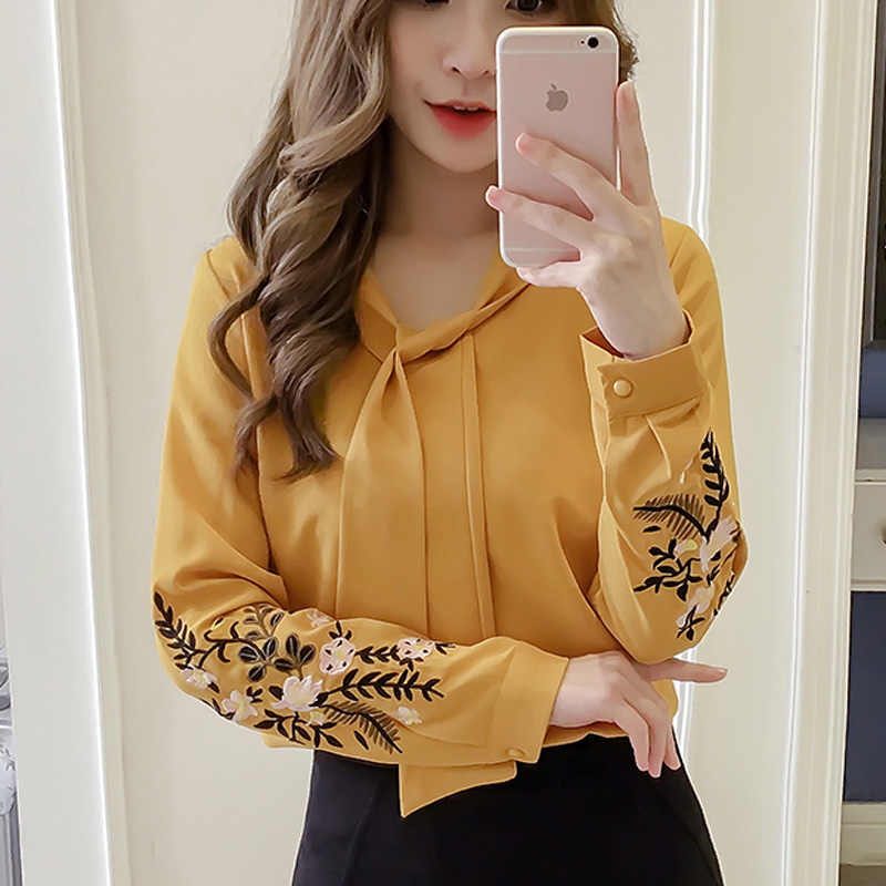442560f87 Bb0782 Blanco De red Casual Manga Collar Blusas Tops Camisas White  Soperwillton Primavera 2019 Bordado yellow Larga Mujer Elegante black Blusa  xwnqIHxOZ0