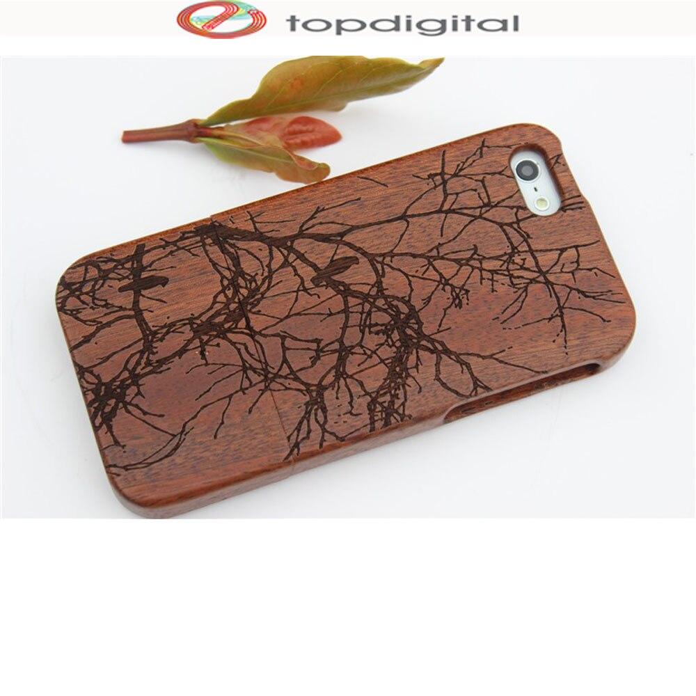 imágenes para SE Felidio Caso De Madera Natural para el iphone Caso Duro de la Contraportada para Apple iPhone SÍ 5S 5 5c Caja Del Teléfono de Lujo de Talla de Madera de Shell
