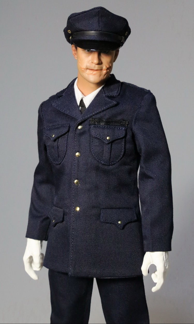 1/6 Batman Joker Police Head Sculpt + Dress Suit MOM0001 Fit 12 Male Action Figure Body Accessories Hot Toys