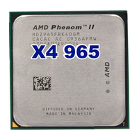 Free Shipping AMD Phenom II X4 965 3 4GHz Socket AM3 938 Processor Quad Core 2M