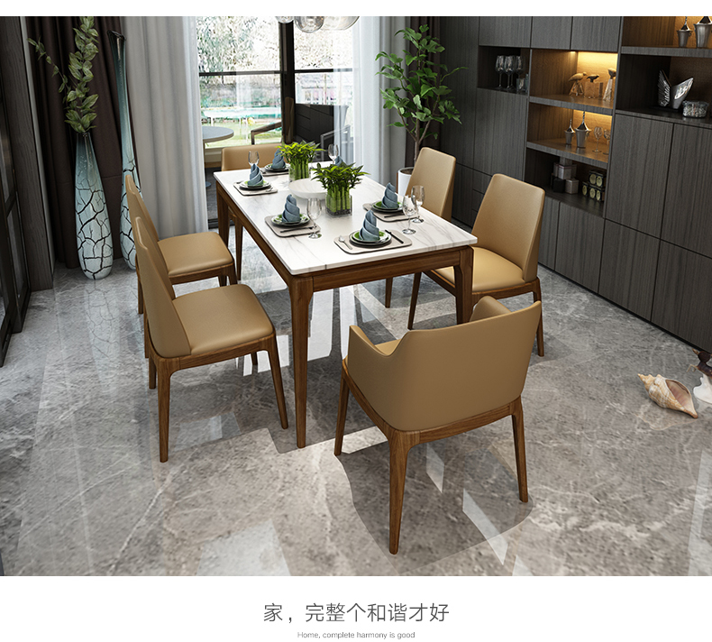 High Quality Stainless Steel Dining Room Set Home Furniture Minimalist Modern Marble  Dining Table And 6 Chairs Mesa De Jantar Muebles Comedor