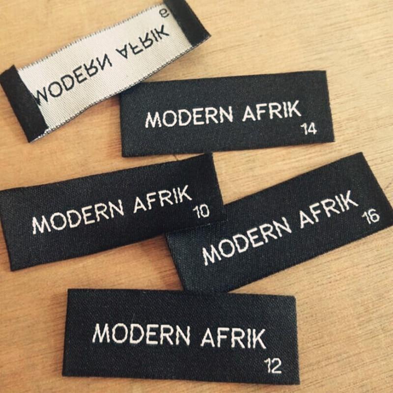 Custom black damask cloth woven label dress shirt blazer Woven t shirt tags
