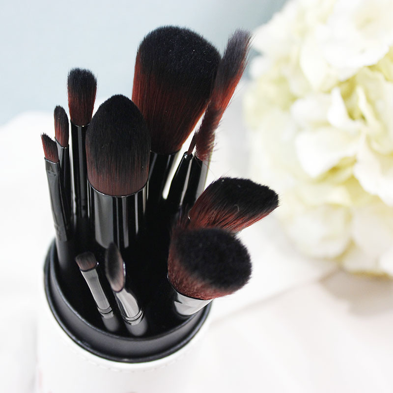 12PCS/SET Plastic Makeup Brushes Kit Natural Soft Bristles Eyeshadow Cosmetic Brush Make Up Tool Good Quality 2017 New Arrival new arrival woman brand cosmetic makeup set multi function make up naked palette eyeshadow palette