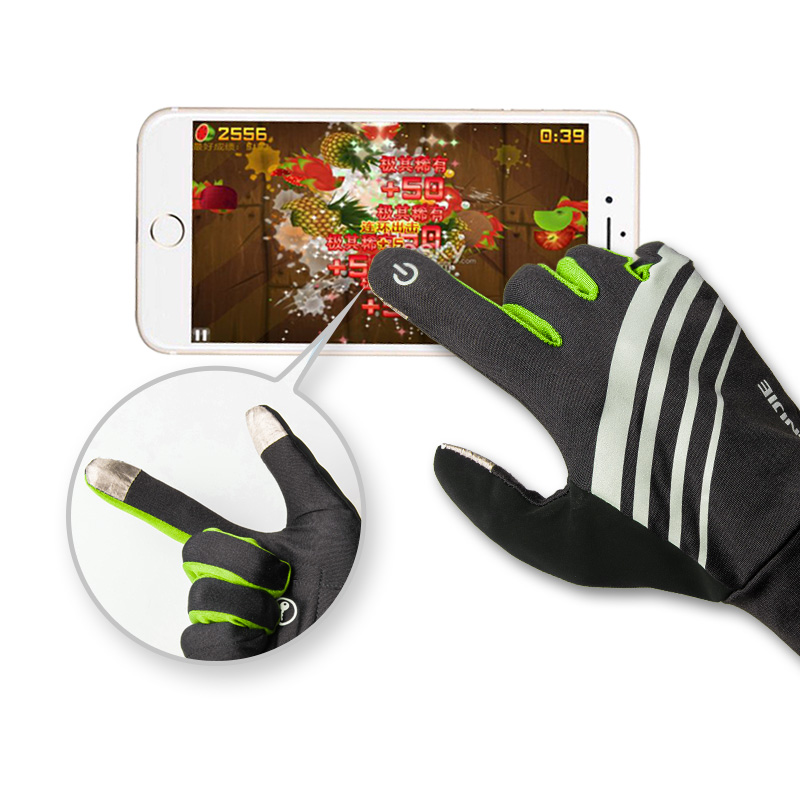 AONIJIE Men Women Waterproof Touch Screen Gloves Winter Gloves Running Cycling Hiking Windproof Waterproof Gloves in Running Gloves from Sports Entertainment