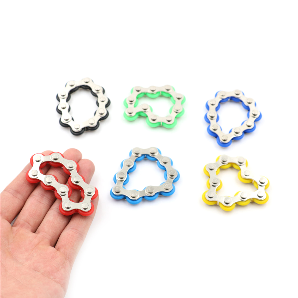Bike Chain Fidget Spinner Bracelet For Autism And ADHD Chaney Fidget Toy Anti Stress Toy For Kids/Adult/Student