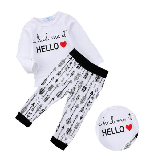 bd62a37b8 Boy Girls Spring Clothes Toddler Kids Long Sleeve T-shirt Tee Tops Pants  2pcs Outfits Children Enfant Boys Girl Clothing Set