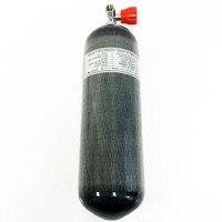 4500 psi paintball tank 6.8L carbon fiber SCBA air tank with red gauge valve Drop Shipping A
