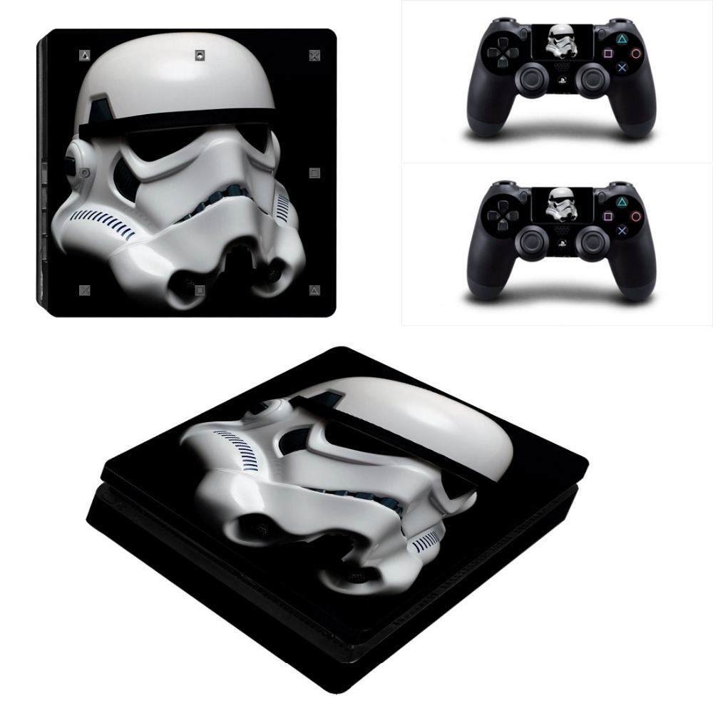 Game accessories For Playstation 4 PS4 Slim Console Game Decal Skin Stickers + 2 Pcs Stickers For PS4 Slim Controller
