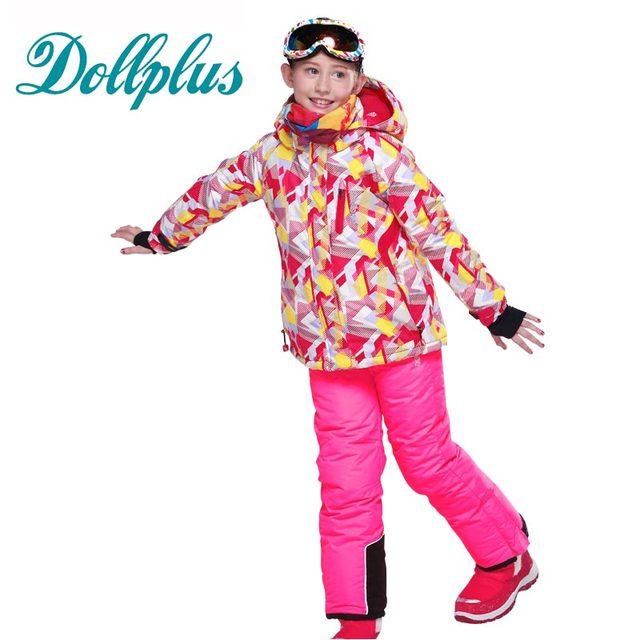 2017 hiver ski costumes pour filles neige combinaison de ski enfant veste salopettes de planche. Black Bedroom Furniture Sets. Home Design Ideas