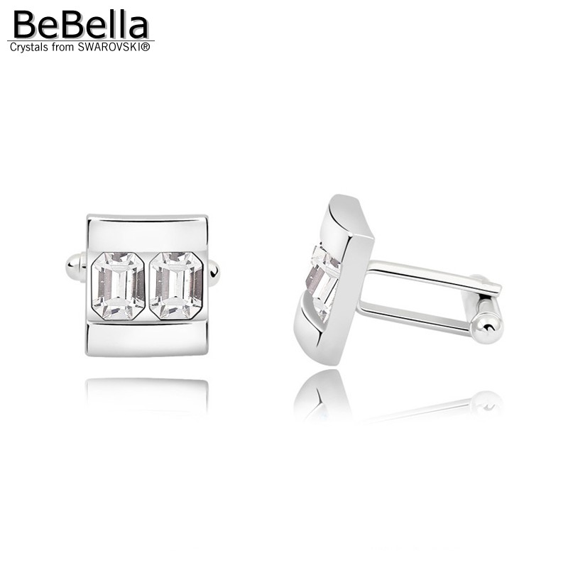 BeBella 5 цветов запонки с кристаллами сделаны с элементами Swarovski для подарка на День отца