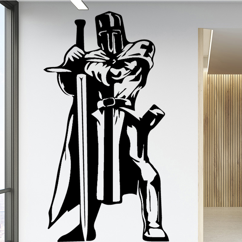 Sword Officer Red Wall Sticker Wall Stickers Home Decor Living Room Removable Decor Wall Decals Fashion Decal Creative Stickers