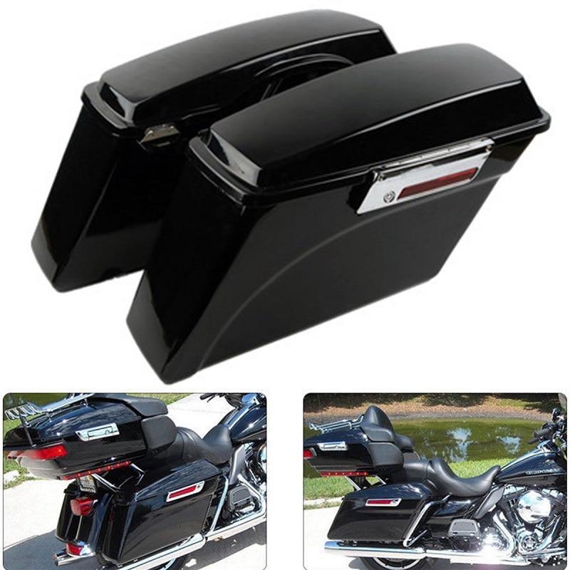 Motocicleta duro alforjas bolsa maletero para Harley HD Softail DYNA gira Road King calle Electra Glide Ultra ABS 94 -13