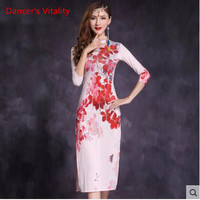 Professional Fashion Chinese Style White Sexy Dance Belly One Piece Dress For Women Women Trendy Performance