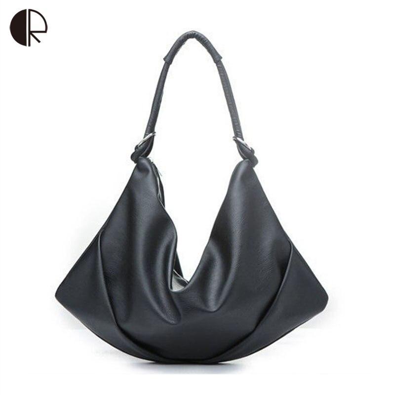 d2b3fdc87cd2 2019 New Women Big Casual Shoulder Bags Ladies Fashion Soft Black Handbags  Brand Design Large-