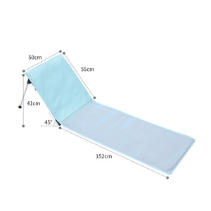 Image 4 - 높은 품질 야외 Foldable 비치의 자 휴대용 여름 휴가 통풍 태양 Lounger 홈 야외 가든의 자 침대