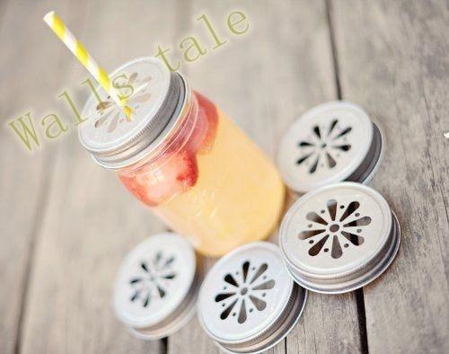 2pcs Drink flessendoppen Daisy gestempeld drinkbekers, metalen tinnen - Home opslag en organisatie