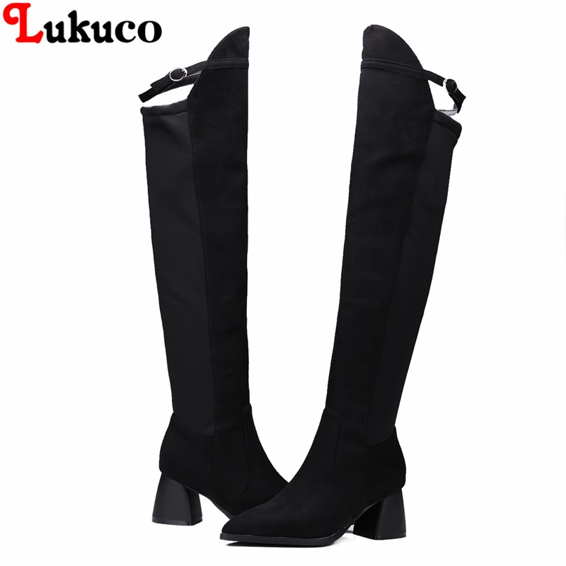 2019 Russian popular design Boots Over the knee Autumn Boot Size 39 40 41 42 43 High Quality Shoes Handmade Footwear Women Botas bacia russian original design boots knee high platform boot genuine leather quality shoes handmade footwear women botas vc001