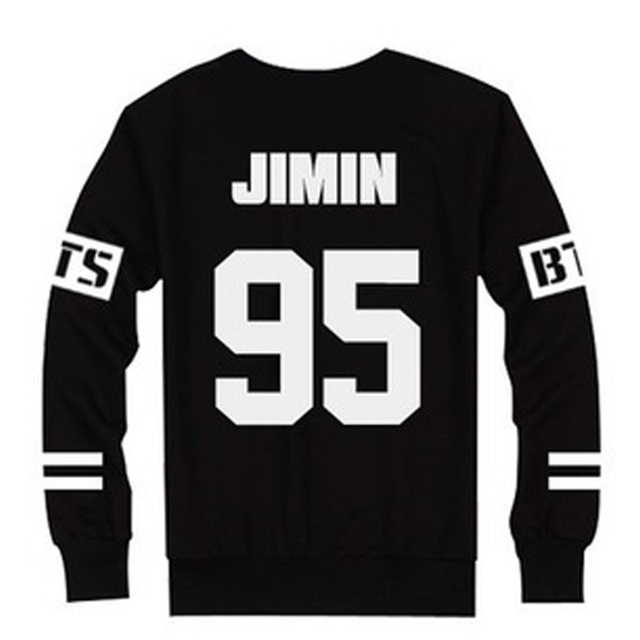 Online Shop Hot Sale Unisex BTS T-Shirts Slim Number Letter Print ...