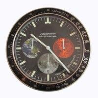 2018 Hot Selling Luxury Design Wall Clock Metal Art Watch Clock Relogio De Parede Horloge Decorativo with Corresponding Logos