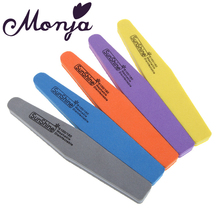1pc Double Side Grit 100/180 Nail Art Files Block Buffer buffing Sanding Washable Sponge Polish Manicure Pedicure Tools
