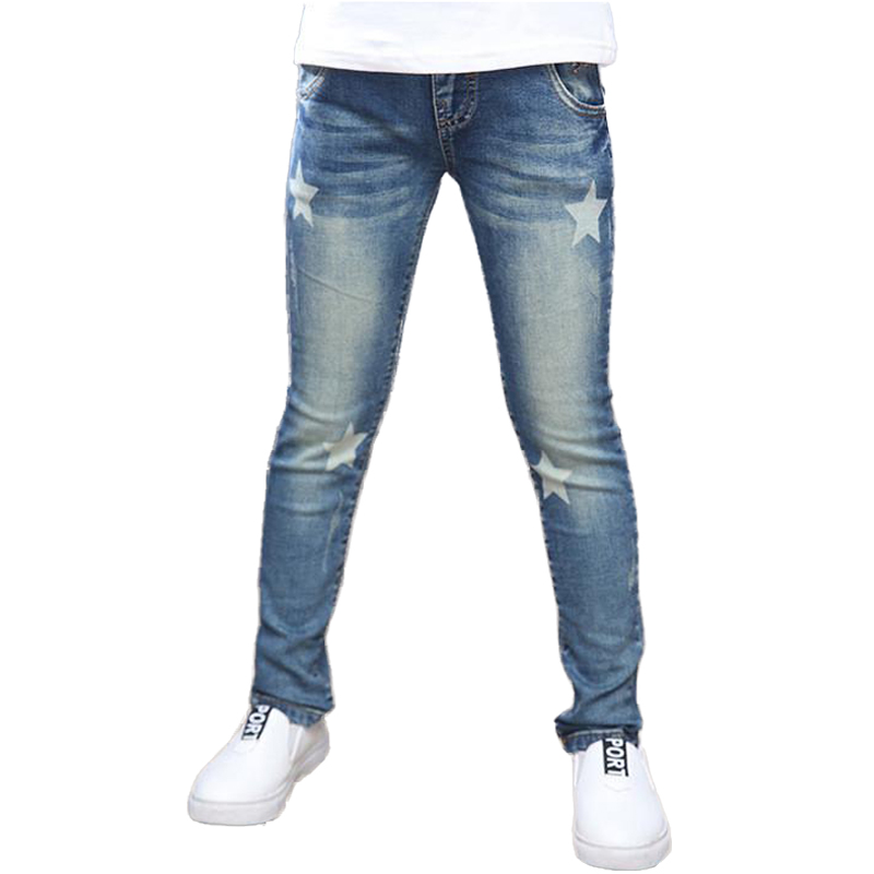 Girls Jeans 2018 New Style Spring Children Pants Star Print High Quality Kids Jeans for Girls Toddler Teens Girls Trousers 2018 new men jeans ripped jeans for men biker jeans european and american style slim fit high quality fashion 1711