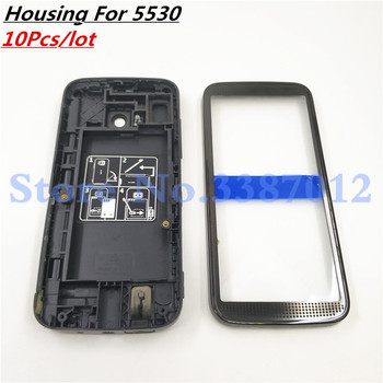 10Pcs/lot New Full Complete Mobile Phone Housing Cover Case For Nokia 5530 With Logo