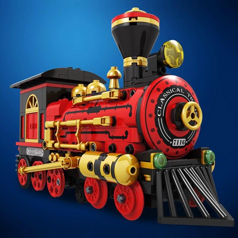 Compatible legoed technic electric DIY motor British city train toy engine sets model building blocks bricks power function kit
