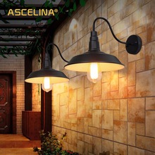 Loft Industriale Lampada Da Parete Applique da parete Depoca HA CONDOTTO LA lampada Retrò Paese Americano Semplicità Ristorante living room della decorazione della luce