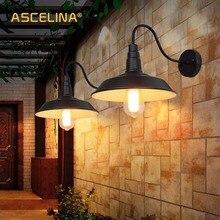 Loft kinkiet przemysłowy klasyczna ściana światło LED lampa retro kraj amerykański prostota restauracja salon dekoracja światło