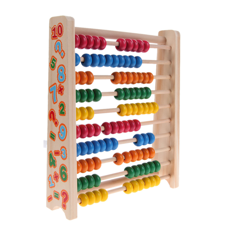 Montessori Kids Math Toys Wood Colorful Beech Abacus Teaching Learning Educational Preschool Training for Children dayan gem vi cube speed puzzle magic cubes educational game toys gift for children kids grownups