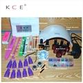 Новейшие KCE 24 Вт Профессиональный UV LED Лампа 6 Цвета 10 мл Soak off гель Для Ногтей гелевой основе Верхний слой Другие Ногтей Инструменты Лак Для Ногтей Набор