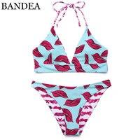 BANDEA Bikini Brand Swimwear Women 2017 Bathing Suit Swimsuit Halter Bikini Padded Biquinis Feminino Reversible Bikini