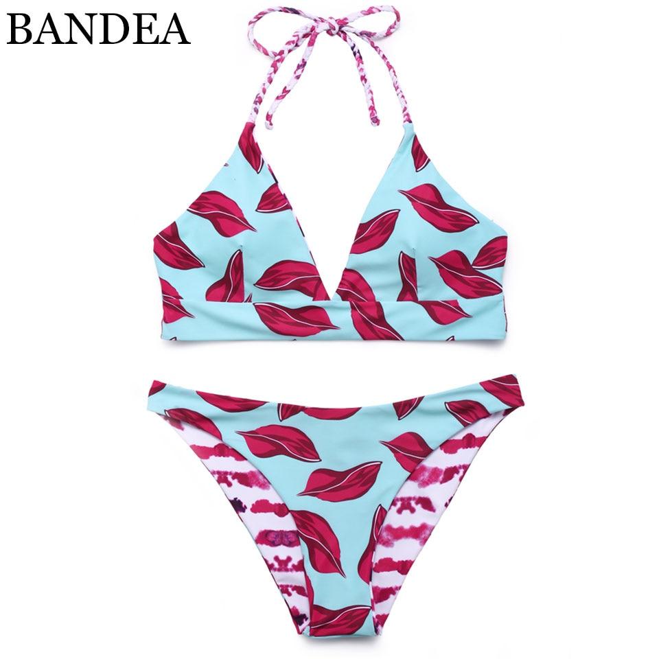 BANDEA bikini Brand swimwear women 2018 bathing suit swimsuit Halter bikini Padded Biquinis Feminino reversible Bikini Set