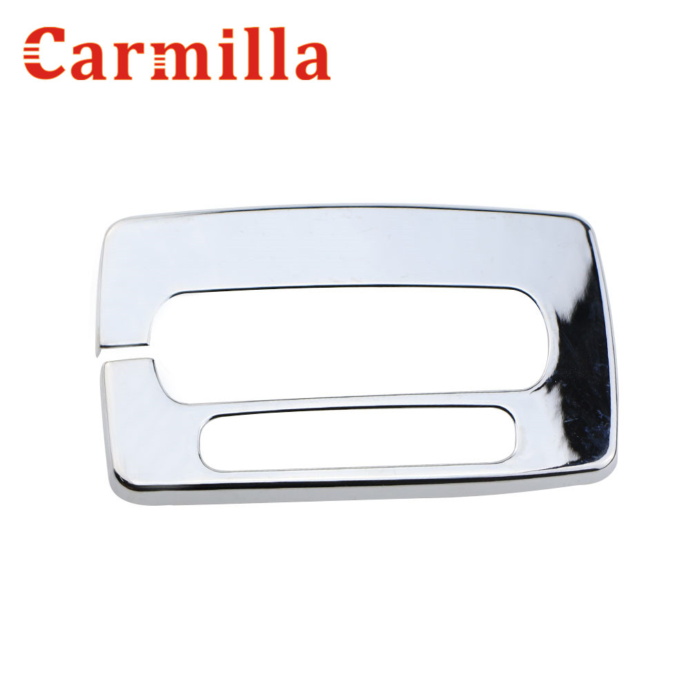 Carmilla ABS Chrome Car Inner Gear Panel Decoration Plate Refitting Sticker AT for Ford Ecosport 2013 2014 2015 2016 Accessories цена