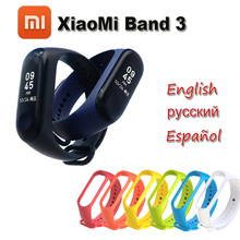 "2018 NEW Xiaomi MiBand Three Mi band Three Health Tracker Coronary heart Price Monitor 0.78"" OLED Show Touchpad Bluetooth 4.2 For Android IOS"