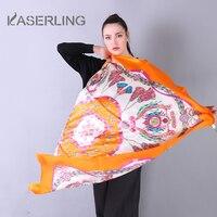 Kaserling экзотические ветер бренд шарф 2018 Элитный бренд 100% чистый Шелковый шарф многоцветный геометрический площади Хиджаб Женский Средства у