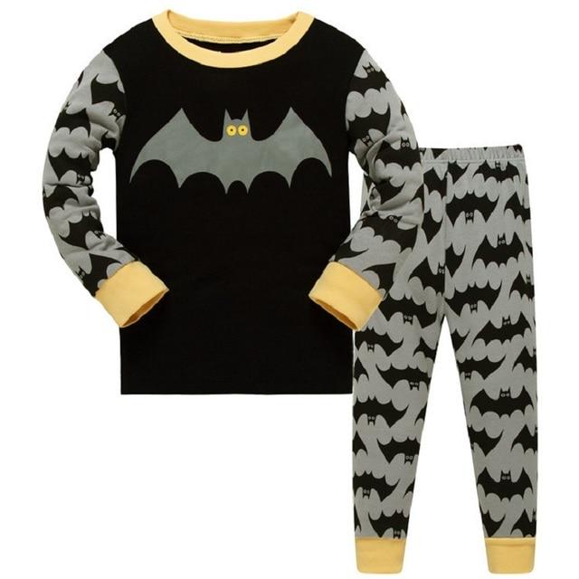2b705b781 Homem Bastão dos desenhos animados Pijamas Outono Inverno Conjunto de  Roupas de Bebê Meninos Pijamas Crianças