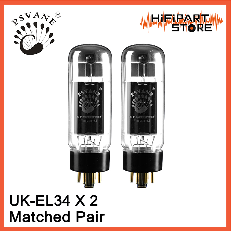 2pcs PSVANE UK EL34 Matched Pair Valve Tube amplifier accessories Repalce Golden Voice Shuguang EH JJ Mullard EL34 6CA7 KT88-in Operational Amplifier Chips from Consumer Electronics    1