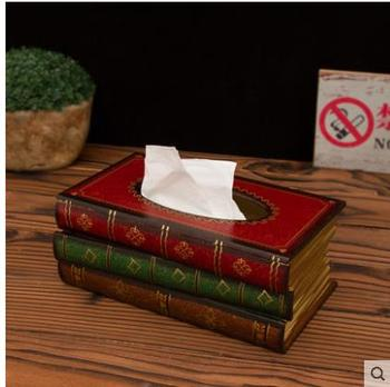 2019 Creative tissue box, American style vintage decoration, storage box