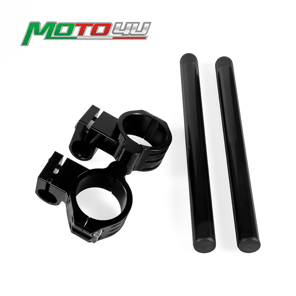 50MM Riser Clip On Bar Handlebar Higher Raised Clip-Ons Black Clip On Clamp Fork Handle Bar Motorcycle Accessories